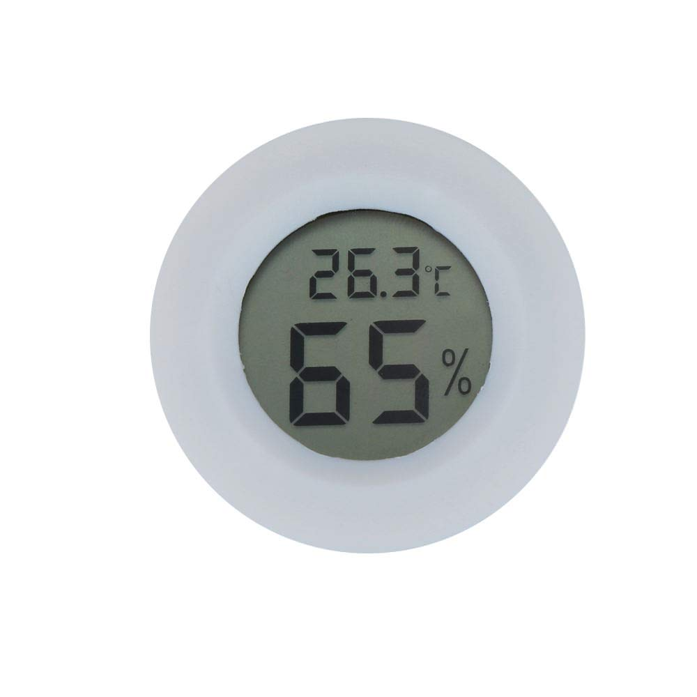 L-FADNUT (4PCS) Mini LCD Celsius Digital Thermometer Hygrometer Temperature Humidity Meter Gauge, Electronic Thermometer for Kitchen, Indoor Garden, Cellar, Fridge, Closet(WHITE)