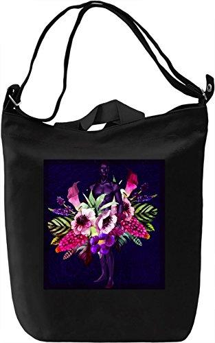 Flower Boy Borsa Giornaliera Canvas Canvas Day Bag| 100% Premium Cotton Canvas| DTG Printing|