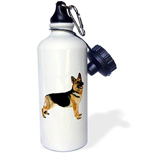 3dRose wb_654_1 German Shepherd Sports Water Bottle, 21 oz, (German Shepherd Bottle)