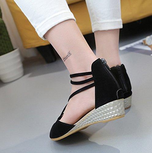 del Scothen planos las las Correa Trenzado sandalias correa de del las mujeres flip Gladiador los zapatillas T correa playa clip flop mujeres Zapatos de de romana de Negro de tobillo sandalias punta 5rrTwCx0q