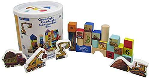 Goodnight, Goodnight, Construction Site 50 Piece Wood Block Set