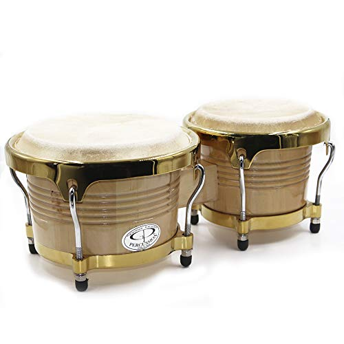 (GP Percussion B10 Pro-Series Tunable Bongos 6.5 & 8 Inch (Clear Finish, Hickory))