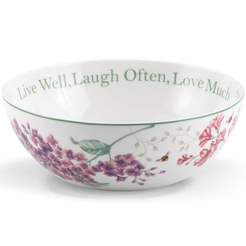 "Lenox Butterfly Meadow ""Live Well, Laugh Often, Love Much"" Serving Bowl"