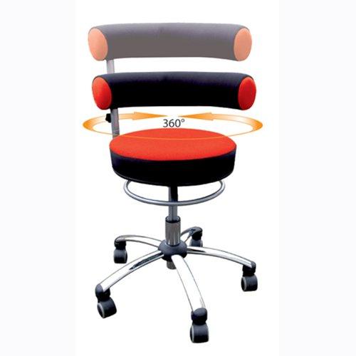 Sanus Gesundheitsstuhl mit höhenverstellbarer Lehne, Sitzhöhe standard (42 - 51 cm), rot/schwarz