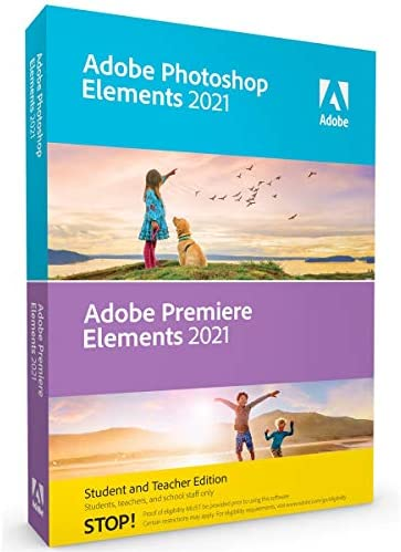 Adobe Photoshop Elements 2021 & Premiere Elements 2021 Student and Teacher [PC/Mac Disc] WeeklyReviewer