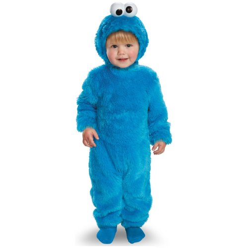 Disguise Costumes Sesame Street Light Up Cookie Monster, Blue, 12-18 Months (Baby Cookie Monster Costume)