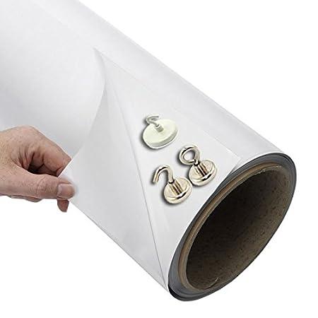 Eisenfolie Ferrofolie selbstklebend weiß glänzend 0,6mm x  50cm x  50cm
