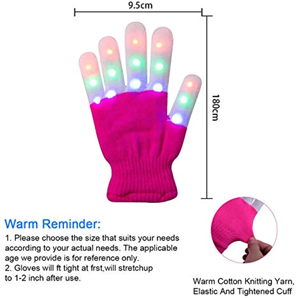 Christmas Gifts For Kids, Led Gloves 4 5 6 7 8 9 10 Year ...