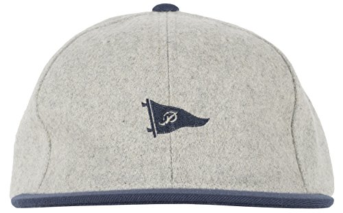 Pennant Cap (Primitive Apparel Pennant Mens Wool Strapback Hat in Grey)