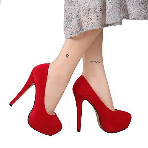 NIUERTE NIUERTEWife - Zapatilla Baja Mujer, Color Rojo, Talla 43