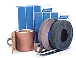 "Norton 50 Yard X 1"" P600 Grit K224 K225 Metalite Aluminum Oxide Extra Fine Grade Resin Bond Cloth Roll 1/ROLL"