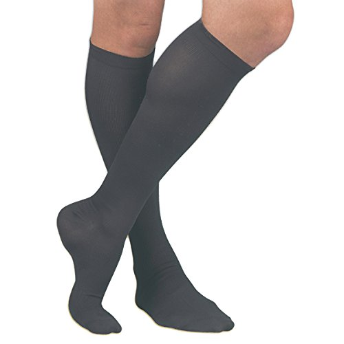 Activa 20-30 mmHg Men's Firm Support Dress Socks, Black, Large