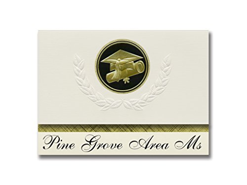 Signature Announcements Pine Grove Area Ms (Pine Grove, PA) Graduation Announcements, Presidential style, Basic package of 25 Cap & Diploma Seal. Black & ()