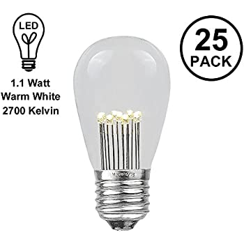 Novelty Lights 25 Pack Led S14 Outdoor Patio Edison