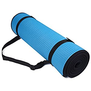 BalanceFrom GoFit All-Purpose 10mm Extra Thick High Density Anti-Slip Exercise Pilates Yoga Mat with Carrying Strap