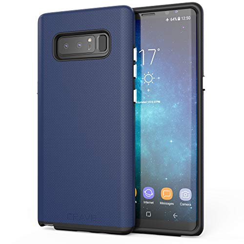 (Note 8 Case, Crave Dual Guard Protection Series Case for Samsung Galaxy Note 8 - Navy )