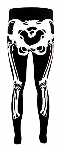 OgLuxe Womens Ladies Skeleton Print Bones HandBodycon Dress BodysuitVneck Halloween Party Collection Plus Size 6-20 (XXL/XXXL (US 20-22), Legging)]()