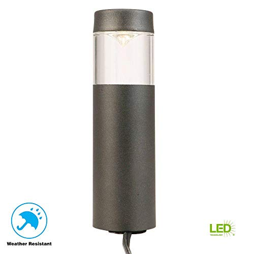 - Hampton Bay Low-Voltage Black Outdoor Integrated LED Round Bollard Path Light