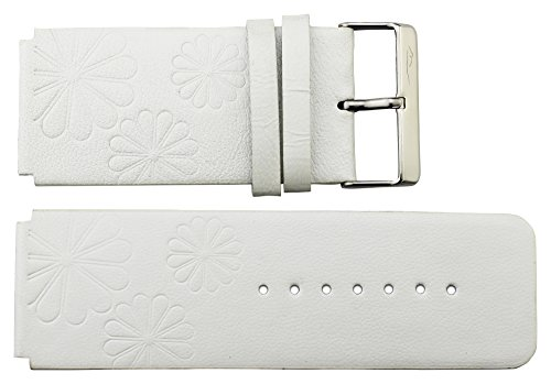 Moog Paris White Calf Leather Band Replacement, Pin Clasp, 30mm Strap _ B30001