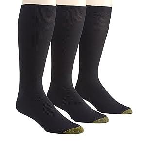 Gold Toe Metropolitan Midcalf Dress Socks - 3 Pack (101M) O/S/Black