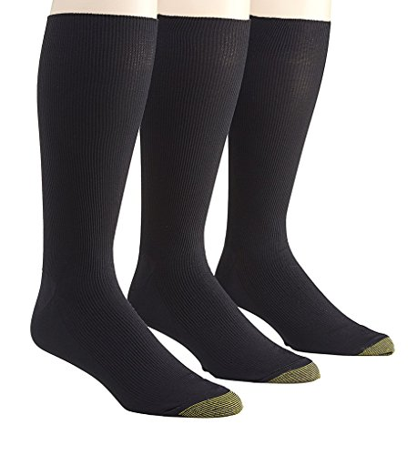 Gold Toe Metropolitan Midcalf Dress Socks - 3 Pack (101M) O/S/Black