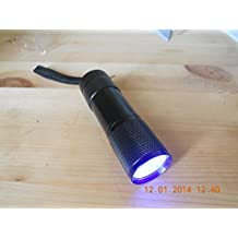 9 LED UV FLASHLIGHT, UV TORCH for FLY TYING and CURING UV GEL RESIN