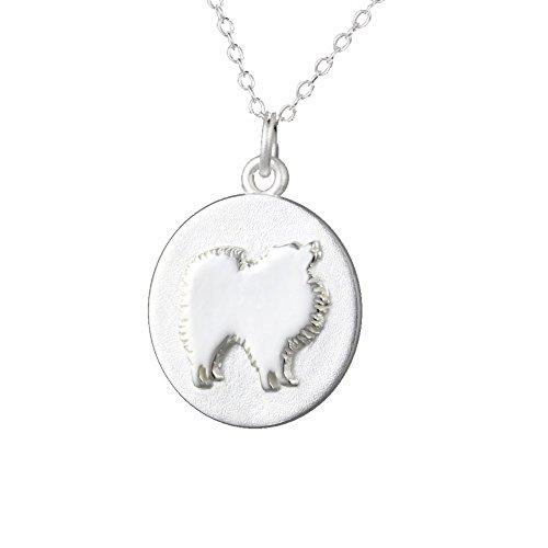 Mochi & Jolie Silver Pendant Necklace, Pomeranian by Mochi & Jolie