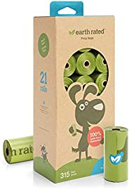 Earth Rated Eco-friendly Dog Poop Bags, 315 Extra Thick and Strong Poop Bags for Dogs, Guaranteed Leak-proof,
