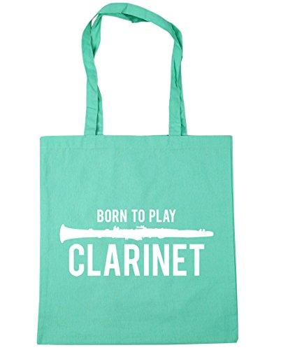Play Beach Shopping 42cm to Tote Bag litres 10 Born HippoWarehouse Clarinet Mint x38cm Gym qTa6E