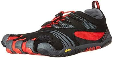 Vibram Men's KMD LS Cross Training Shoe, Black/Red,40 EU/8.5-9 M US