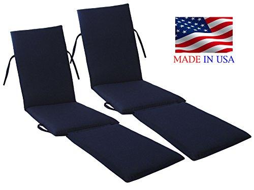 Cheap  Urban Design Furnishings Made in USA Steamer Chair Cushion Sunbrella Canvas Navy..