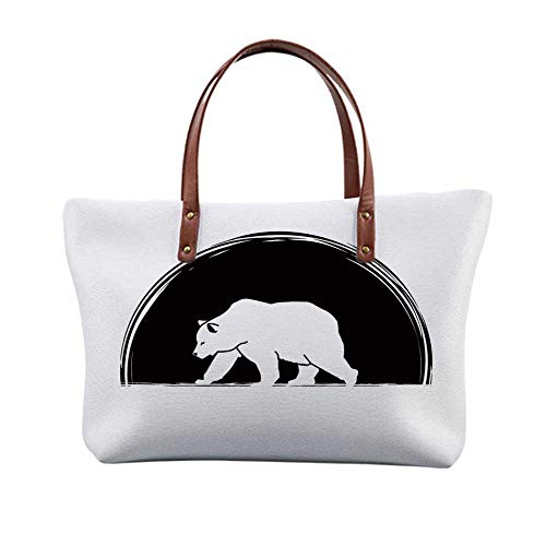 Animal Stylish Print Top Handle Bags,for Women,15.3