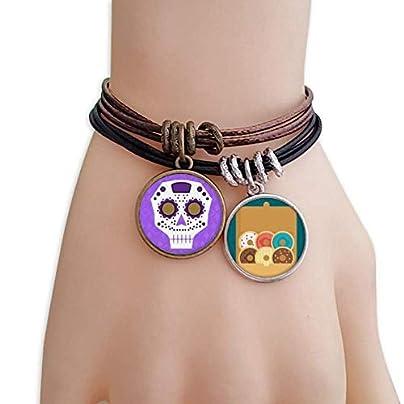 SeeParts Flower-shaped Purple Eyes Skull Culture Illustration Bracelet Rope Doughnut Wristband Estimated Price £9.99 -