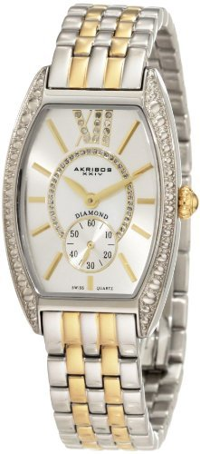 Akribos XXIV Women's AKR470TT Diamond Swiss Quartz Tourneau Bracelet Strap Watch by Akribos XXIV -  955236
