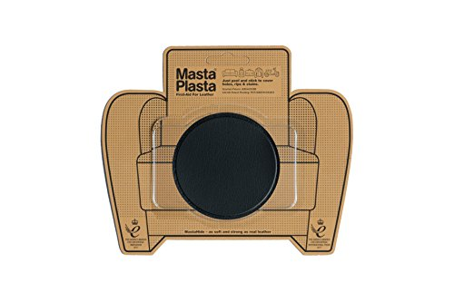 MastaPlasta Self-Adhesive Patch for Leather and Vinyl Repair, Large Circle, Black - 3 Inch Diameter - Multiple Colors Available