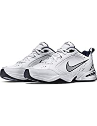 Nike Men's Air Monarch IV (4E) Athletic Shoe, White/Black, 14.0 Wide US