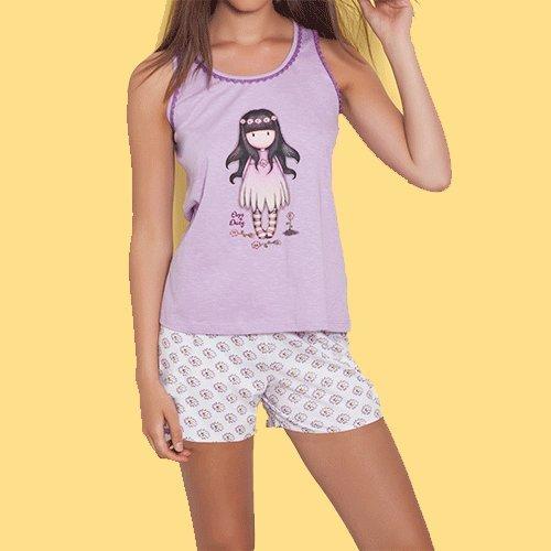 SANTORO Pijama Verano Gorjuss Tirantes - Oops a Daisy Juvenil, 6 años