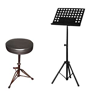 Amazon Com Pyle Music Note Stand And Stool Package Pms1