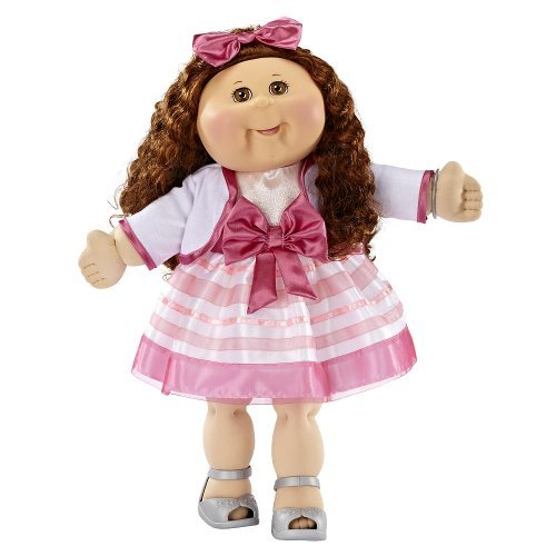 Cabbage Patch Kids Anniversary - FAO Exclusive Cabbage Patch Doll 30th Anniversray 20 inch Collector Kid - Girl, Brunette, Brown Eyes