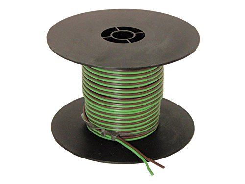 Parallel Bonded Wire - 2-Wire Bonded Parallel - Green/Brown - 100 Feet - 16 Gauge