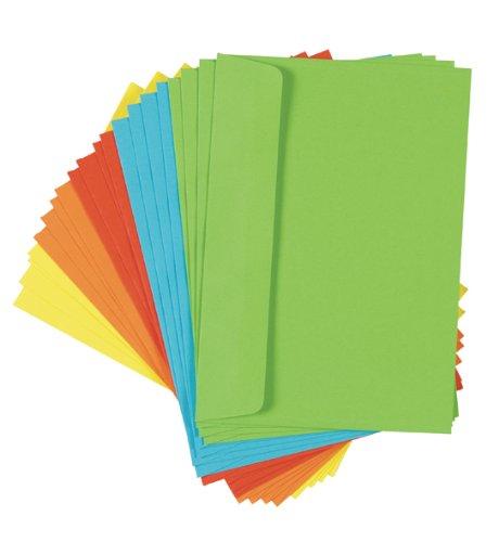 100 (5x 20) farbige Briefumschläge Din C6 bunte Kuvert