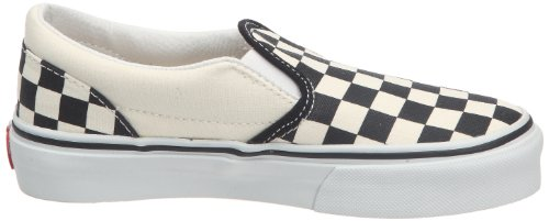 Zapatillas Checker White Vans white on Blanco Slip black Classic And Hombre xAAzgtw