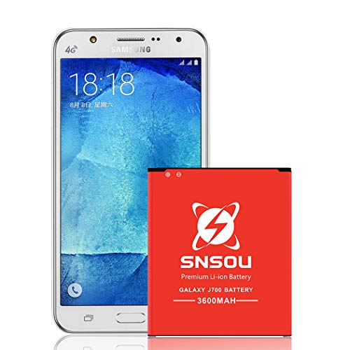 (SNSOU Galaxy J7 Battery [3400mAh] Li-ion Replacement Battery for Samsung Galaxy J7 SM-J700 (2015 Ver) [J700P, J700T, J700T1, J700M, J700H] EB-BJ700BBC/EB-BJ700BBU,Samsung J7 Spare Battery.)