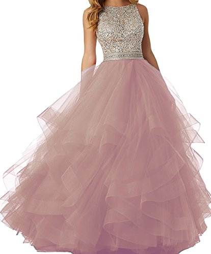Long Sequins Back Dresses Dresses Ruffles BessDress Paty Sparkly Blush Evening Prom Open BD416 SqpxwpE5U