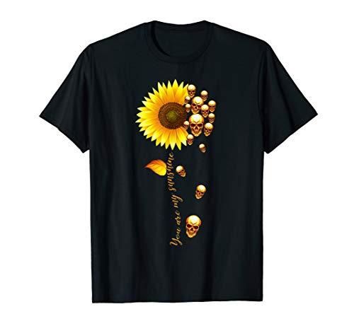 Skull and Sunflower T Shirt ()