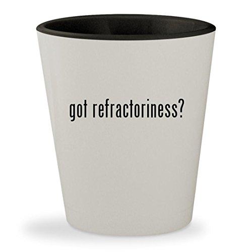 got refractoriness? - White Outer & Black Inner Ceramic 1.5oz Shot Glass (Kit Brick Liner Refractory)