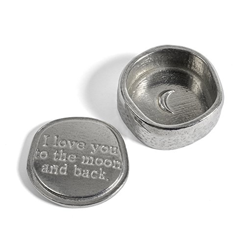 Crosby & Taylor I Love You to the Moon and Back Tiny Pewter Sentiment Box