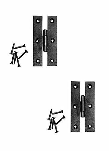 Renovator's Supply Cabinet Hinge Black Iron H Flush 3 Inch Set Of (Black Iron Door Hinges)