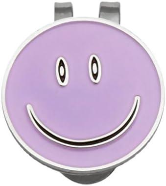 Perfeclan Smile Face golfbalmarker met magnetische golfhoed clip ideaal voor alle golfers en gelegenheden
