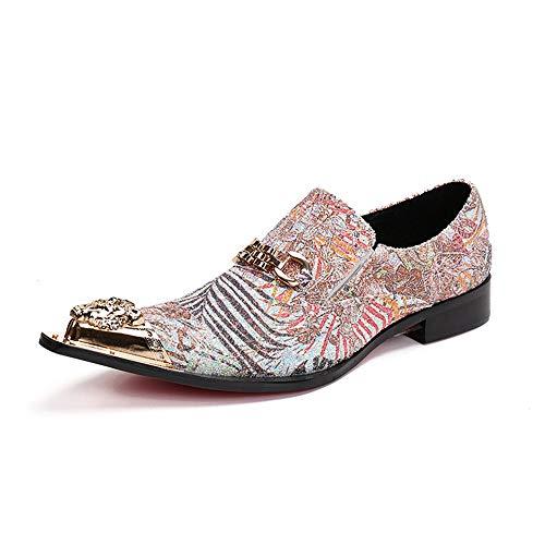 da a pelle uomo per rossa Creative casual EU antiscivolo Dimensione punta scarpe impermeabile Chlyuan Scarpe 42 in Vintage da uomo gli uomini WAw0YIOq